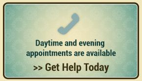 Daytime and evening appointments are available - Get Help Today
